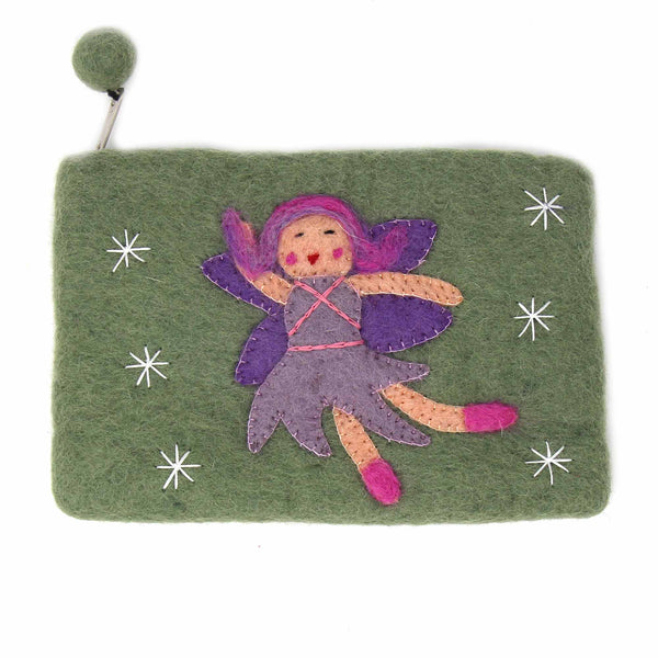 Hand Crafted Felt Starry Fairy Pouch