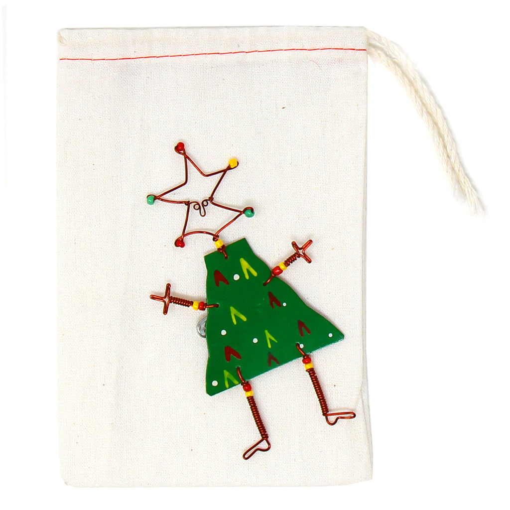 Dancing Girl Christmas Tree Pin - Creative Alternatives