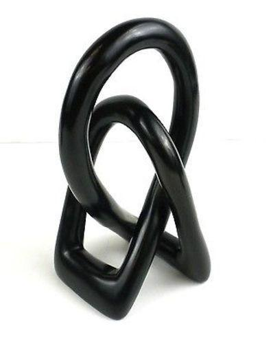 Lovers Knot 6 inch Black