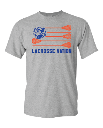 WARREN LACROSSE - Flag - T-shirt - Sport Grey
