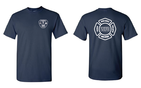 WFD - T-shirt w/ High Angle Design - Navy Blue - 100% COTTON