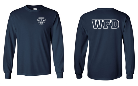 WFD - Long Sleeve Shirt - Navy Blue - 50/50% COTTON