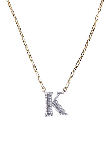 Blended Initial Necklace