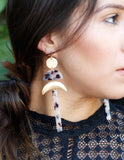 A List Starlet Earrings in Brown