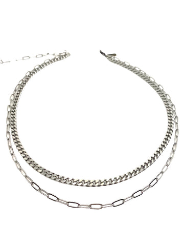 2 Layer Kept Secret SILVER Necklace