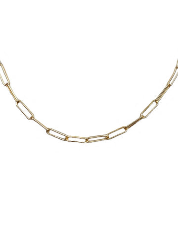 Eden Gold Paperclip Chain Necklace