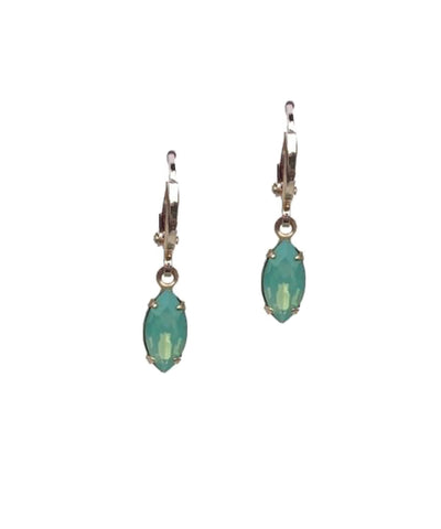 Gem Huggie Light Green Earrings
