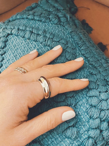 Luxe Silver Chunky Ring