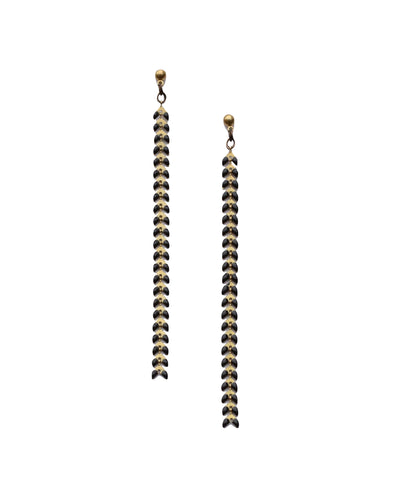 Earrings Black Fishtail