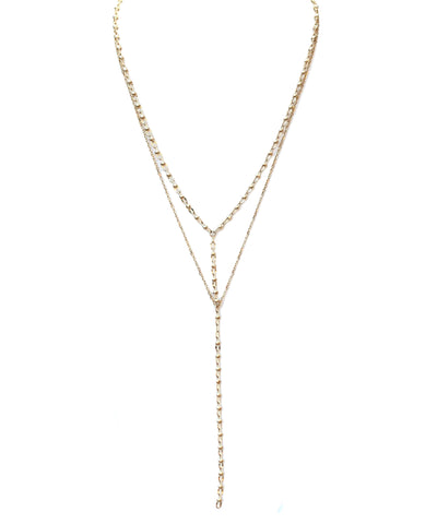 Gold Date with Rain necklace