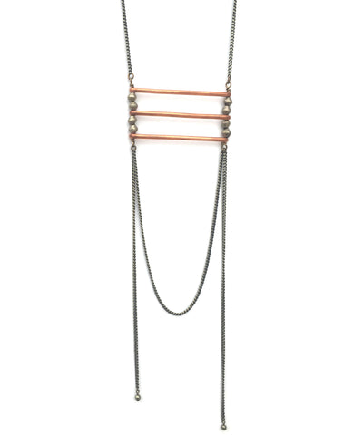 Necklace Copper Bar Breastplate
