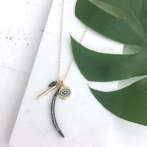 Dainty Eye of Protection Charm Necklace