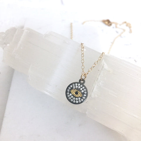 Dainty Eye of Protection Necklace