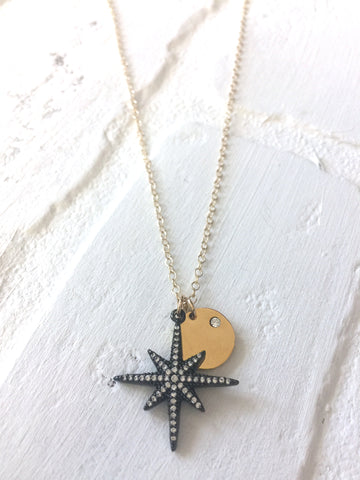 Dainty Starburst Coin Necklace