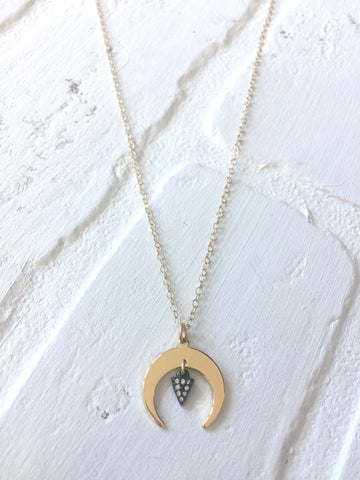 Dainty Crescent Necklace