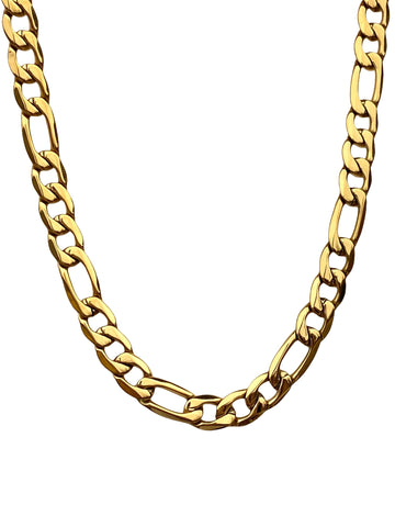 Figaro Gold Statement Link Chain Necklace