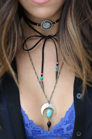 Simple Wish Necklace - Turquoise