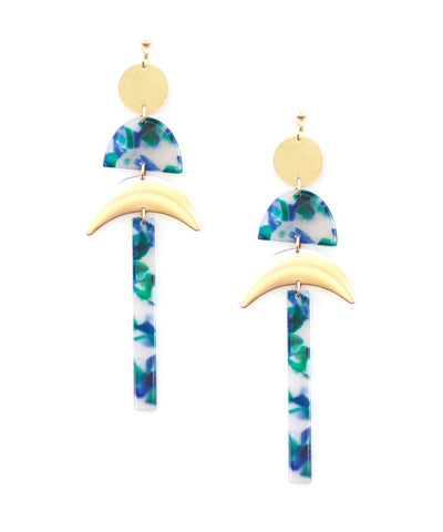 A List Starlet Earrings in Green