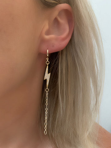 Amped Huggie Earrings