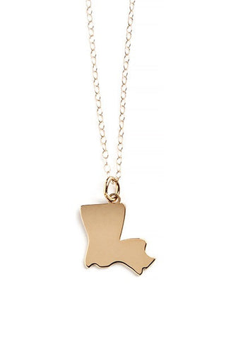 State Louisiana Necklace