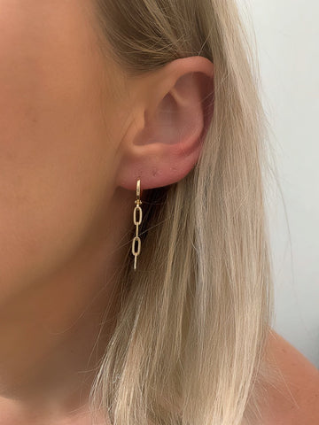Chain Huggie Earrings