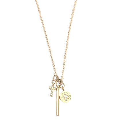 Dainty Trio Charm Necklace