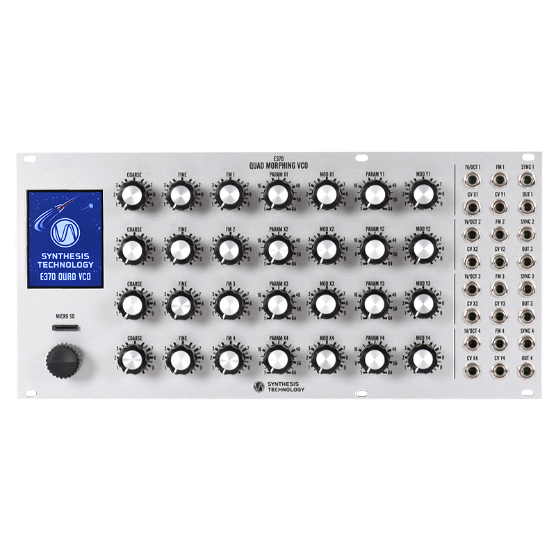 E370 Quad Morphing VCO SILVER PANEL