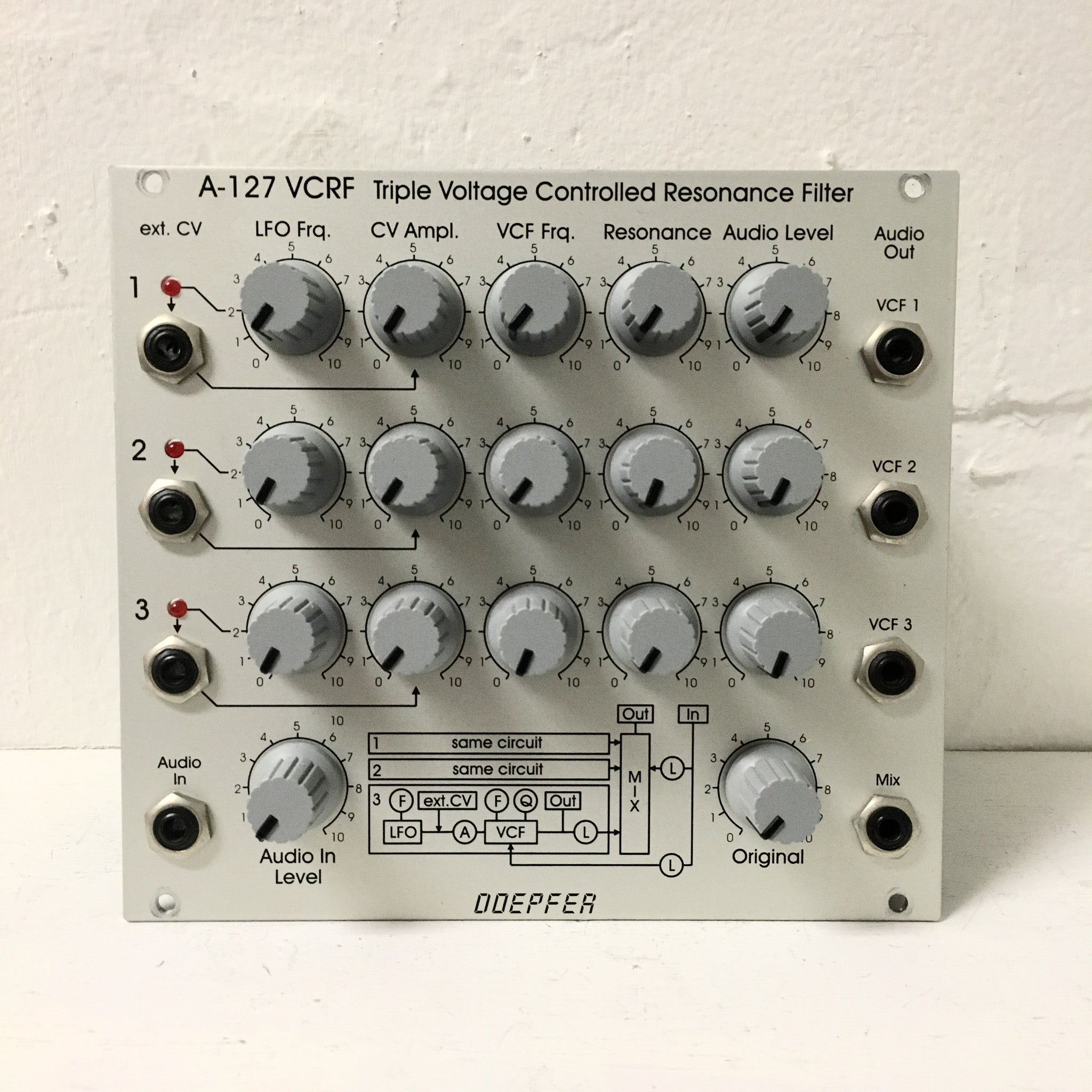Doepfer A-127 VCRF Triple Voltage Controlled Resonance Filter