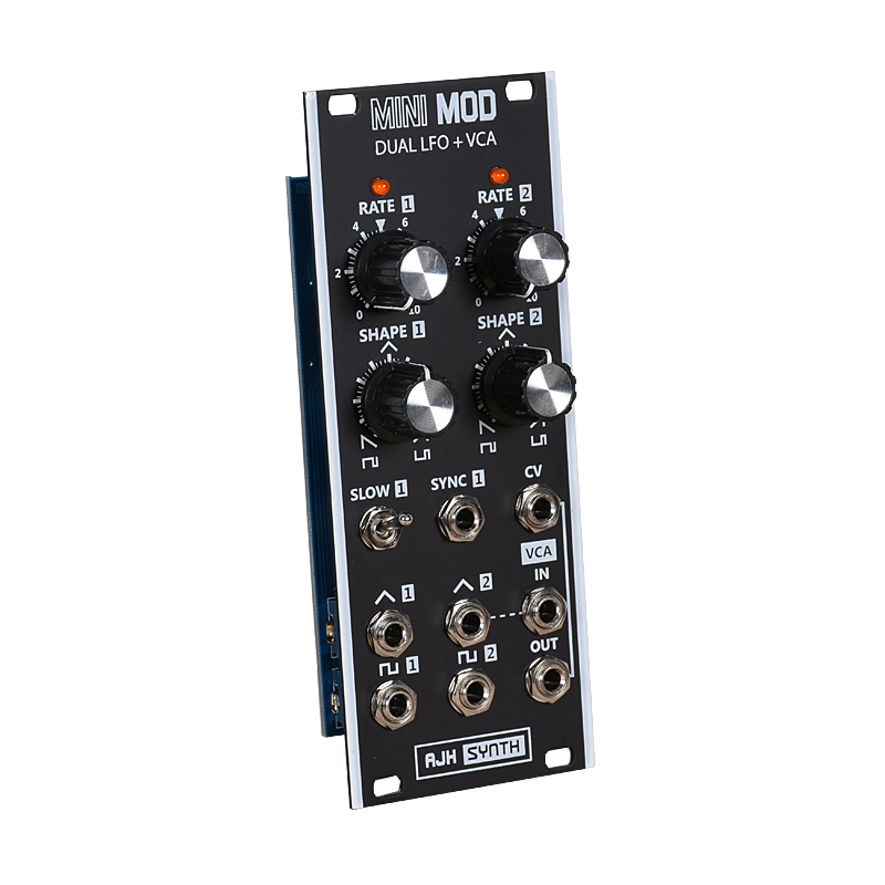 MiniMod Dual LFO and VCA - Black