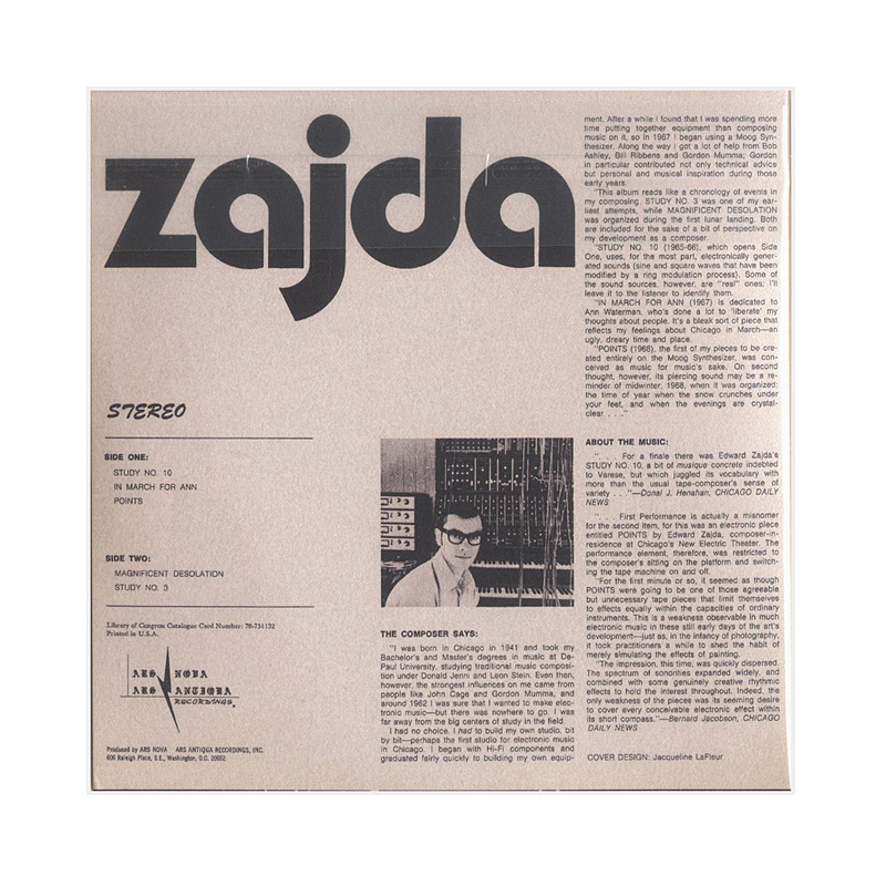 "Edward M. Zajda ""Independent Electronic Music Composer"" (USA) CP015 CDr"