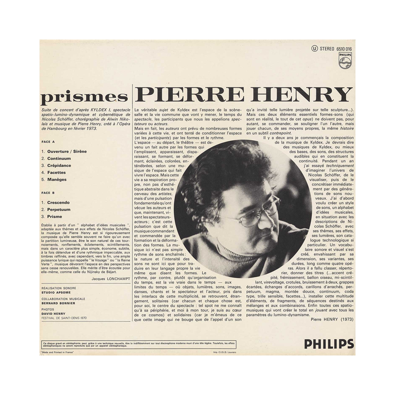 "Pierre Henry ""Prismes"" (France) CP133 CDr"