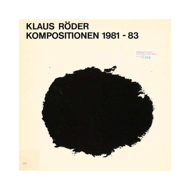 "Klaus Röder ""Elektronische Kompositionen"" (Germany) CP155 CDr"