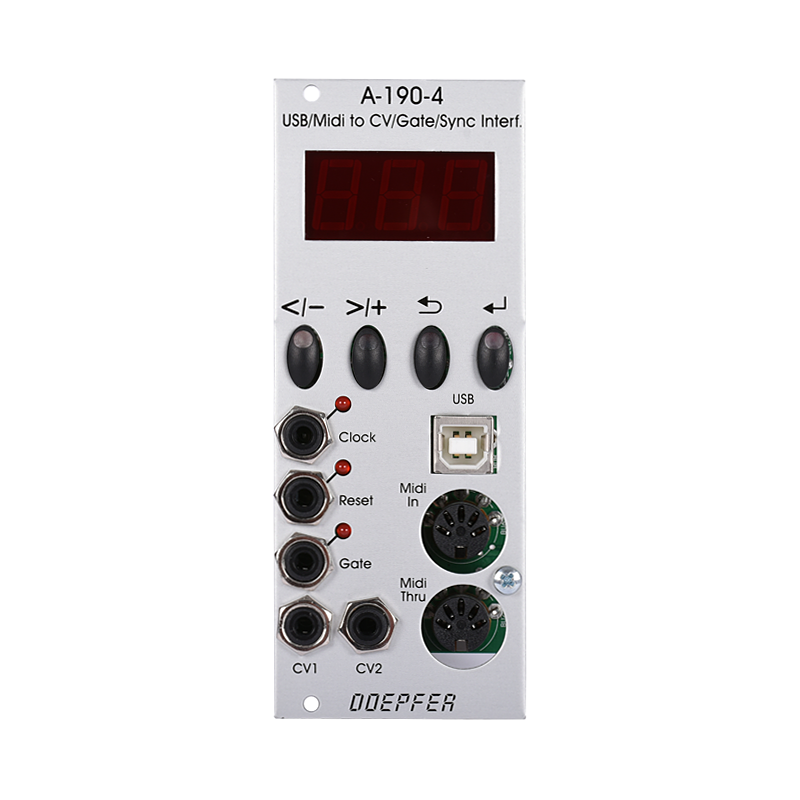 A-190-4 USB/MIDI-to-CV/Gate/Sync