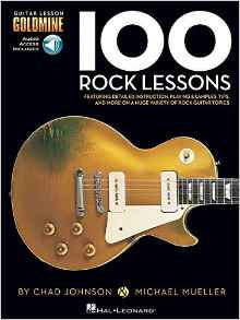100 Rock Lessons, by Chad Johnson and Michael Mueller (Book/Audio)