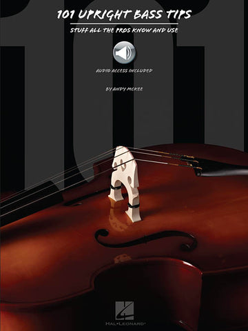 101 Upright Bass Tips, by Andy McKee (Book/Audio)