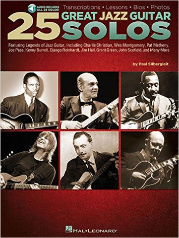 25 Great Jazz Guitar Solos, by Paul Silbergleit (Book/Audio)