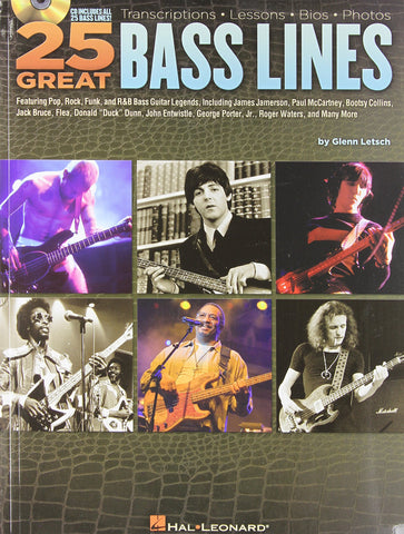 25 Great Bass Lines (Book/Audio)