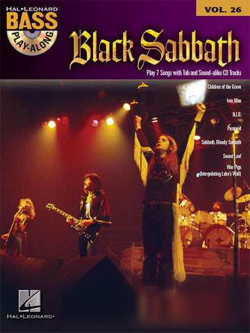 Black Sabbath Bass Play-Along (Book/Audio)