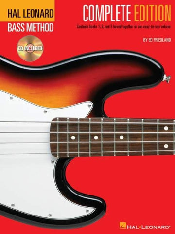 Hal Leonard Bass Method – Complete Edition, by Ed Friedland (Book/Audio)