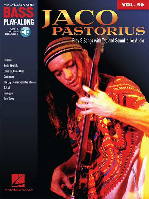Jaco Pastorius Bass Play-Along (Book/Audio) - FREE U.S. SHIPPING!