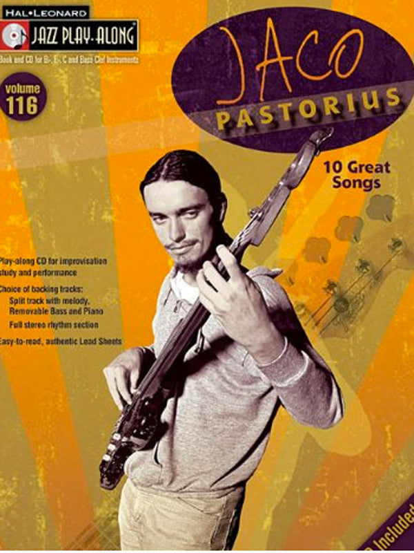 Jaco Pastorius: Jazz Play-Along Volume 116 (Book/Audio)