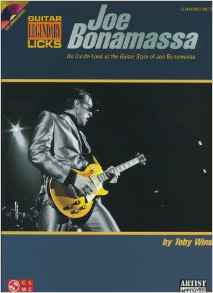 Joe Bonamassa Legendary Licks - An Inside Look at the Guitar Style of Joe Bonamassa (Book/Audio)