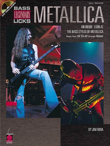 Metallica - Bass Legendary Licks: An Inside Look at the Bass Styles of Metallica (Book/Audio)