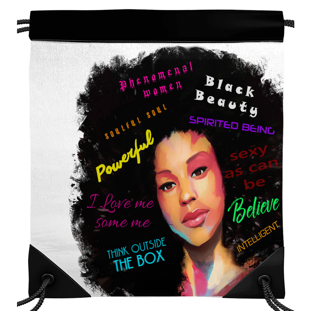Fearless Empowerment Drawstring Bags