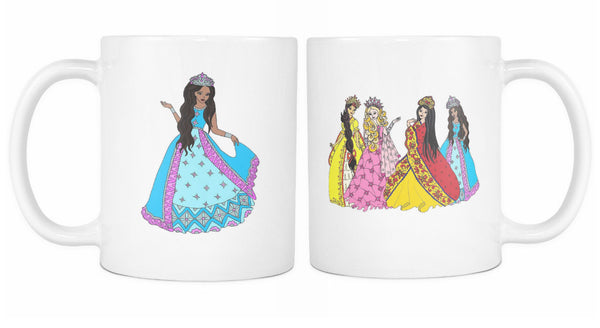 Princess Black or White Mug Set of 2