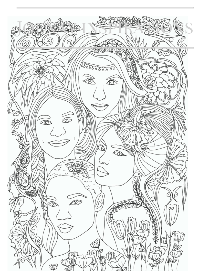 The creative coloring book for adults
