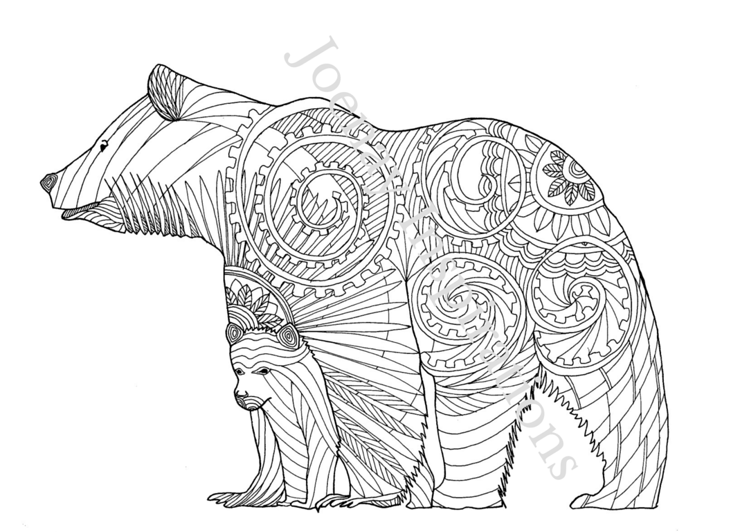 Amazing Animals: Adult Coloring Book – Joenay