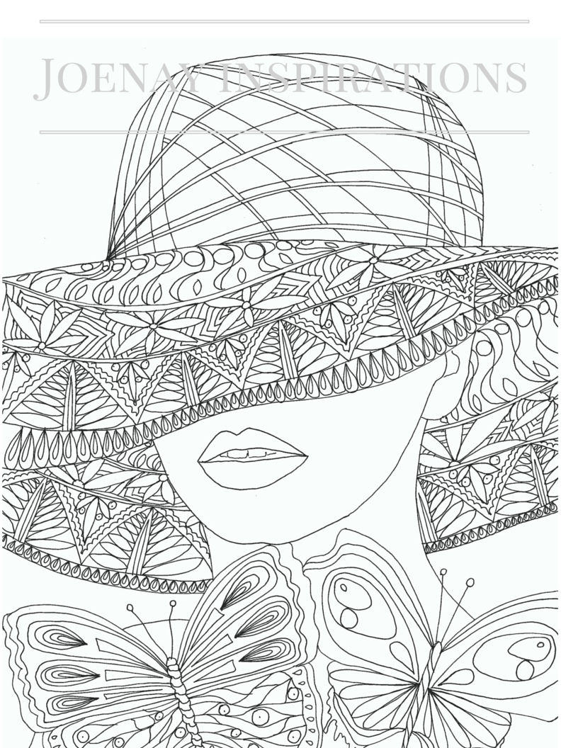 Faces of the World Adult Coloring