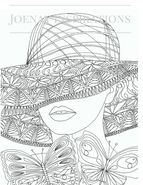 faces of the world adult coloring book joenay. Black Bedroom Furniture Sets. Home Design Ideas