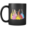 Black Mug - Princess Friends Talking
